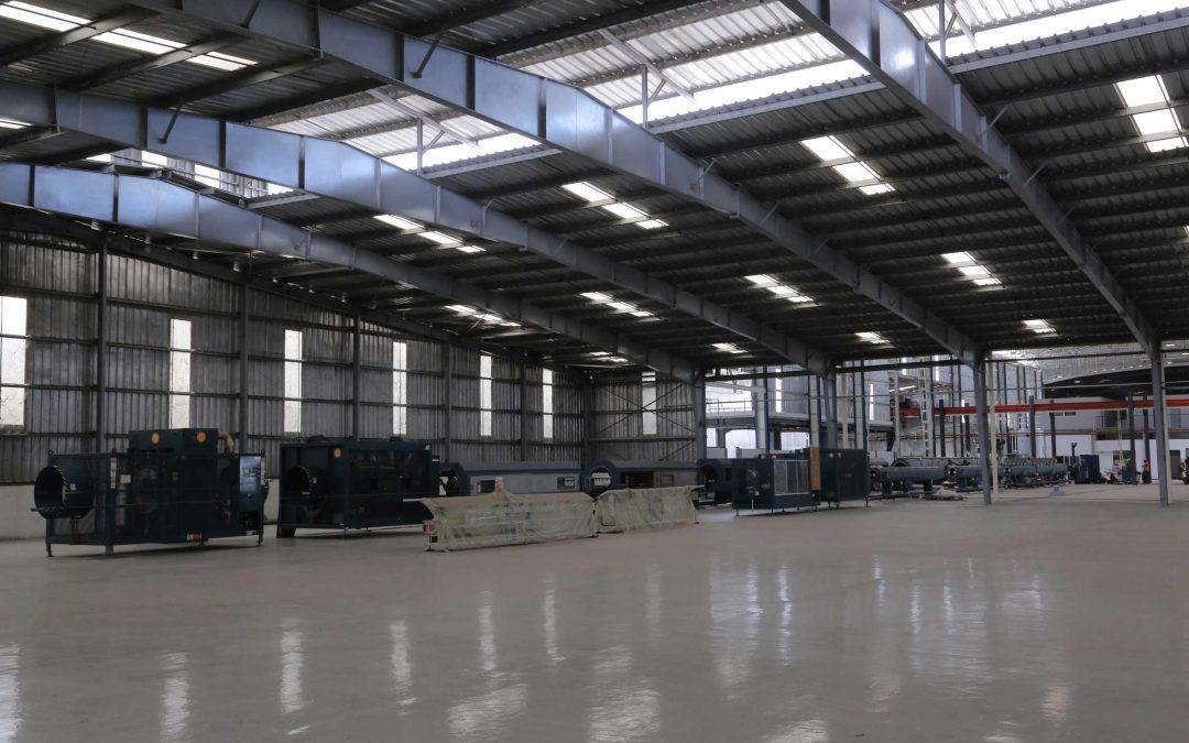 INVESTISSEMENT : Une nouvelle usine de 32 000 m2  pour la fabrication du tube Polyéthylène diamètre 800 mm