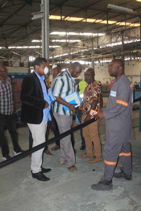 VISITE : L'entreprise MOOV Côte d'Ivoire satisfaite de la qualité des produits SOTICI