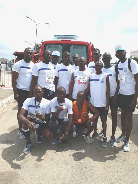 SPORT : LA SOTICI présente à la 4 ème édition du marathon international du district d'Abidjan