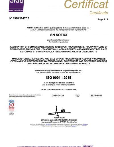 certificat ISO9001 V2015 (2)