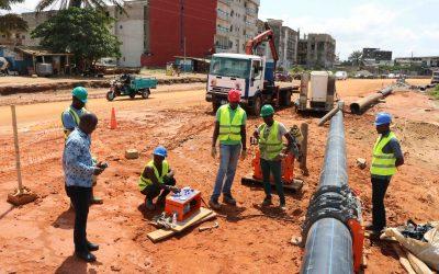 Projet de Transport Urbain d'Abidjan (PTUIA) pour le déplacement réseau d'eau potable : La SOTICI en premier plan